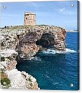 Xviii Defensive Tower In Alcafar Minorca - A Walk About Cliffs Acrylic Print