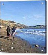 A Walk Along Back Beach Acrylic Print