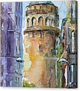 A Walk Around Galata Tower - Istanbul Acrylic Print
