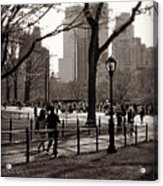 A Walk In Central Park - Antique Appeal Acrylic Print