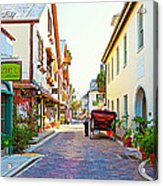 A Walk In St Augustine Acrylic Print by Michelle Wiarda