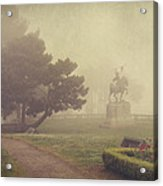 A Walk In The Fog Acrylic Print by Laurie Search