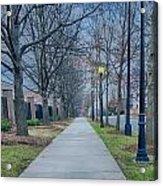 A Walk On A Sidewalk Street Alley Acrylic Print