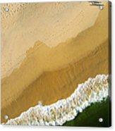 A Walk On The Beach. A Kite Aerial Photograph. Acrylic Print by Rob Huntley