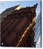 A Warm Slice Of Sunshine - Manhattan's Potter Building At Sunrise Acrylic Print