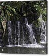 A Waterfall As Part Of An Exhibit Inside The Jurong Bird Park Acrylic Print