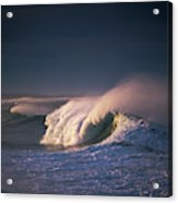 A Wave Breaks At Ziolkouski Beach Acrylic Print