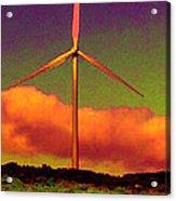 A Western Windmill Acrylic Print