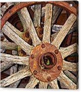 A Wheel In A Wheel Acrylic Print by Phyllis Denton