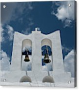 A Whitewashed Bell Tower And Dramatic Acrylic Print