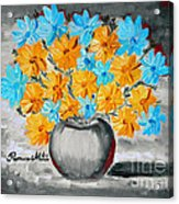 A Whole Bunch Of Daisies Selective Color II Acrylic Print