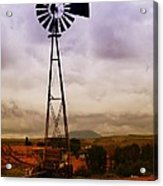 A Windmill And Wagon  Acrylic Print