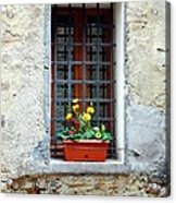 A Window In Tuscany Acrylic Print by Mel Steinhauer