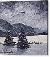 A Winter Evening Acrylic Print by Monica Veraguth