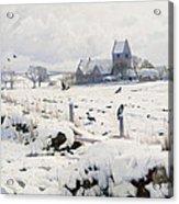 A Winter Landscape Holmstrup Acrylic Print