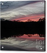 A Christmas Winter Sunset Acrylic Print