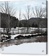 A Wintery Day In Vermont Acrylic Print