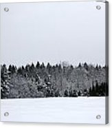 A Wintery Scene Along Goode Street Acrylic Print
