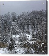 A Wintery View At The United States Military Academy Acrylic Print