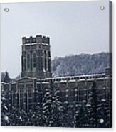 A Wintery View Of The Cadet Chapel At The United States Military Academy Acrylic Print
