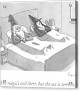A Wizard And A Witch Lay In Bed Together Acrylic Print
