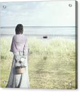 A Woman And The Sea Acrylic Print