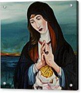 A Woman In Prayer Acrylic Print by Joseph Demaree