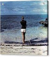A Woman On A Beach Acrylic Print