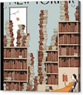 Fall Library Acrylic Print