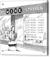 The Wine Station Acrylic Print