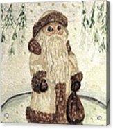 A Woodland Santa Acrylic Print