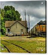 A Workhorse At The Madison Station Acrylic Print