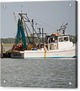 Seadrift Texas Working Boat Acrylic Print