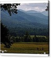 A Young Family Visits The  Great  Smoky Mountains Acrylic Print
