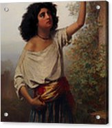A Young Gypsy Woman With Tambourine  Acrylic Print