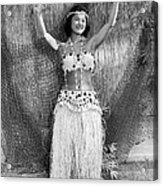 A Young Hawaiian Hula Woman Acrylic Print