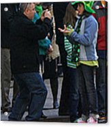 A Young Lady Posing During The 2009 New York St. Patrick Day Parade Acrylic Print