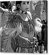 A Young Warrior - B W Acrylic Print