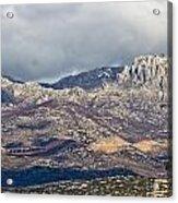 A1 Highway Croatia Velebit Mountain Road Acrylic Print