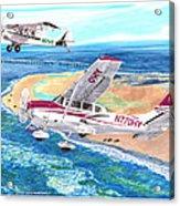 Cessna 206 And A1a Husky Acrylic Print