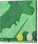 Aan Het Biljart Acrylic Print