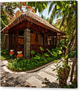 Aaramu Spa Hideaway In Tropical Garden. Maldives Acrylic Print