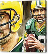 Aaron Rodgers Green Bay Packers Quarterback Artwork Acrylic Print