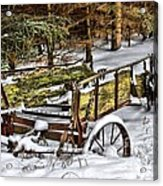 Abandoned In The Snow Acrylic Print
