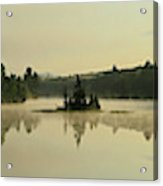 Abanakee Lake Sunrise Fog 180 Degree Acrylic Print
