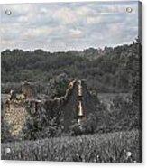 Abandon Stone House And Steeple  Acrylic Print
