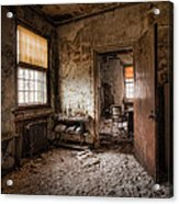 Abandoned Asylum - Haunting Images - What Once Was Acrylic Print by Gary Heller