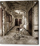 Abandoned Asylums - What Has Become Acrylic Print by Gary Heller