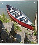Abandoned Boat At The Quay Acrylic Print