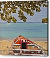Abandoned Boat Seascape Acrylic Print